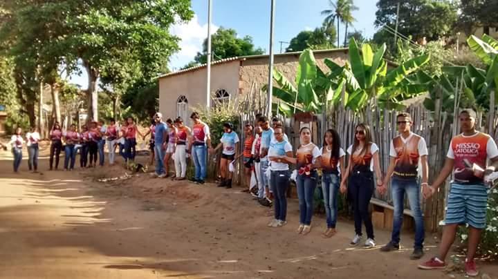 Jovens da da Paroquia Sagrado Coração de Jesus GV realizam missão em Chonin de Cima