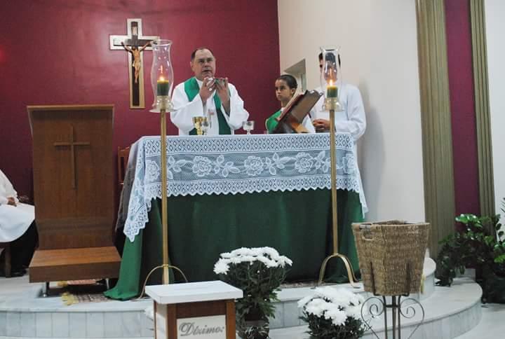 Dom Félix celebra durante a 16º Novena de São Sebastião da Paróquia Nossa Senhora de Guadalupe