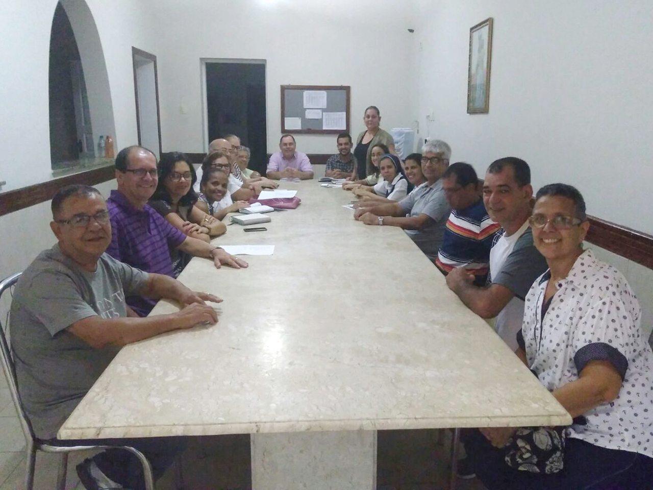 Reunião de Dom Félix com o SAV no Seminário Diocesano