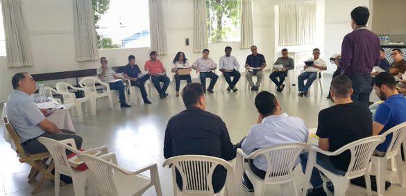 Reunião com a Comissão de Segurança na Catedral
