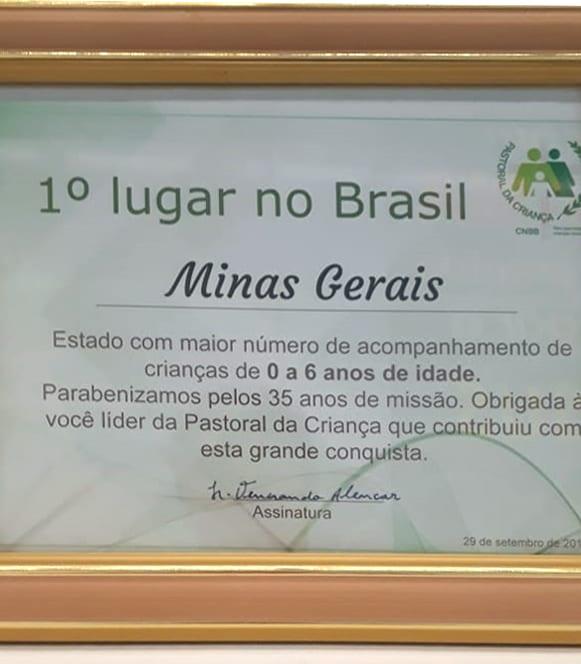 Celebração dos 35 anos de caminhada da Pastoral da Criança no Estado de Minas Gerais