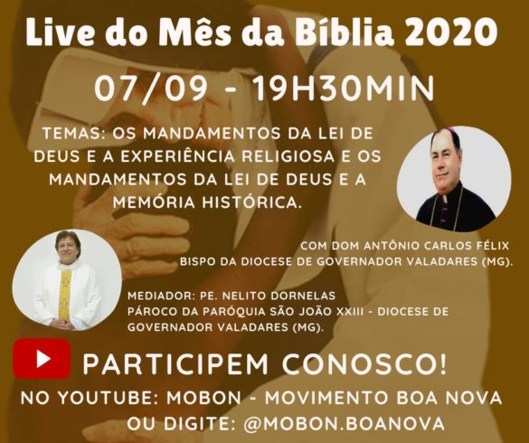 Mês da Bíblia 2020 – Programação das Lives