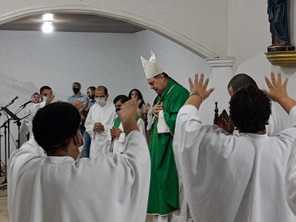 Missa na Novena do Padroeiro na Paróquia do Trevo