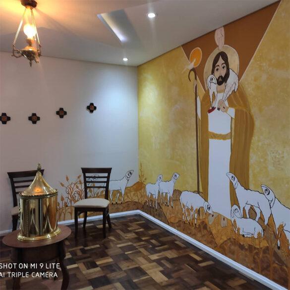 Pintura que o Pe. Bruno Andrade fez em Clevelândia – Paraná