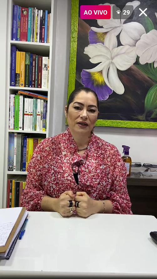 Live do Setor Casos Especiais com a Psicóloga Sônia