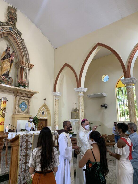 Missa na Festa de Nossa Senhora do Carmo em Aimorés