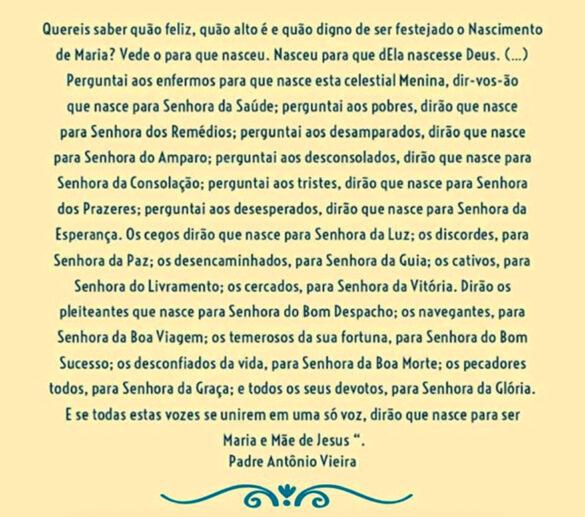 Mensagem de Pe. Antônio Vieira